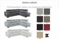 canapé d'angle convertible en cuir italien de luxe 5/6 places tony, avec coffre, couleur personnalisée, angle droit
