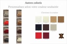 fauteuil une place en cuir supérieur luxe haut de gamme italien torino, couleur personnalisée
