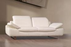 canapé personalisé pour mr fernandez en tout cuir supérieur luxe haut de gamme italien  3 places & 2 places  torino, blanc
