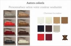 canapé 2 places en cuir supérieur luxe haut de gamme italien torino, personnalisé