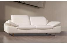 canapé 3 places en cuir supérieur luxe haut de gamme italien torino, blanc