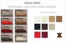 canapé 3 places en cuir supérieur luxe haut de gamme italien torino, personnalisé