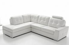 canapé d'angle tosca en simili cuir de qualité supérieure vénésetti, blanc