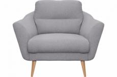 fauteuil en tissu luxe 1 place, trendy gris clair