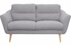 canapé en tissu luxe 2 places, trendy gris clair