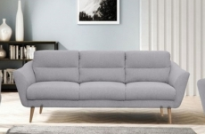 canapé en tissu luxe 3 places, trendy gris clair