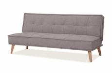 canapé 2 places avec couchage en tissu de qualité ural, gris