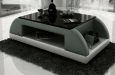 table basse design valina, gris foncé et blanc