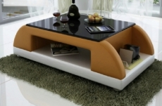 table basse design valina, marron et blanc