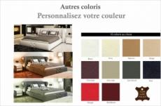 lit design en cuir italien de luxe vegas, couleur personnalisée
