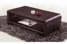table basse en design vera, chocolat