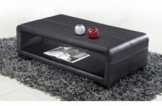 table basse en cuir italien vera, noir