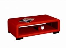 table basse en cuir italien vera, rouge