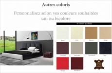 lit design en cuir italien de luxe verdi, personnalisé.