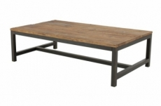table basse vilma, vieil orme ciré
