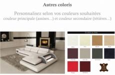 2eme paiement de la commande: canapé d'angle 6 places ibiza, couleurs personnalisées bordeaux et écru, angle droit, 6x sans frais, total de la commande: 1538 euros