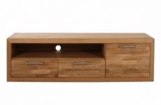 meuble tv contemporain en bois massif, welson