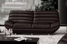 canapé 2 places en cuir italien william, noir
