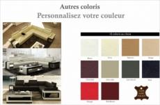 canapé d'angle en cuir luxe italien 5/6 places xerus, cuir haut de gamme italien vachette. cuir prestige luxe. couleurs personnalisées, angle droit