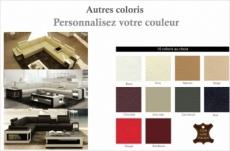 canapé d'angle en cuir luxe italien 5/6 places xerus, cuir haut de gamme italien vachette. cuir prestige luxe. couleurs personnalisées, angle gauche
