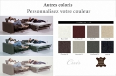 canapé relax et convertible en cuir de buffle italien de luxe 5/6 places yuca, couleur personnalisée