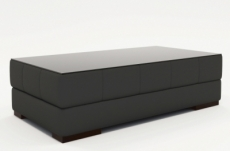 table basse design zeina, gris foncé uni.
