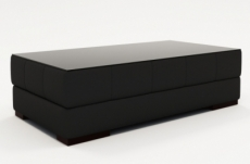 table basse design zeina, noire unie.