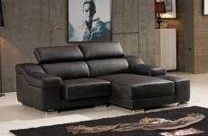 canapé d'angle en cuir buffle italien de luxe zendo, chocolat, angle droit