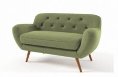 canapé 2 places en tissu de qualité zest, vert