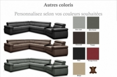 canapé d'angle convertible en 100% tout cuir italien de luxe 6/7 places zook, couleur personnalisée, angle gauche
