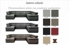 canapé d'angle convertible en 100% tout cuir italien de luxe 7/8 places zoxane, personnalisé, angle droit
