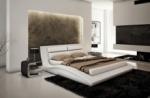 lit en cuir italien de luxe serenis, blanc