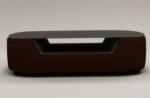 table basse design, plateau de verre foncé, alesia, chocolat