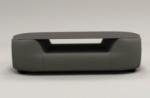 table basse design, plateau de verre foncé, alesia, gris foncé
