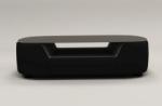 table basse design, plateau de verre foncé, alesia, noir