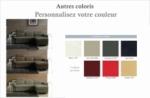 canapé d'angle convertible 5 places, allusion,  couleur personnalisée, angle droit