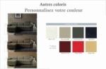 canapé d'angle convertible 5 places, allusion,  couleur personnalisée, angle gauche
