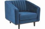 fauteuil asini 1 place en tissu de qualité, couleur bleu