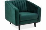 fauteuil asini 1 place en tissu de qualité, couleur vert