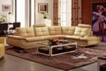 canapé d'angle, qualité luxe 6/7 places bellastar, coloris beige, angle droit