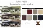 canapé d'angle cuir buffle italien 7/8 places , bellissimo, couleur personnalisée, angle droit