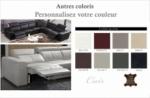 canapé d'angle double relax électrique en cuir de buffle italien de luxe 7/8 places bestrelax, coulleurs personnalisées, angle droit