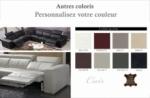 canapé d'angle double relax électrique en cuir de buffle italien de luxe 7/8 places bestrelax couleurs personnalisées, angle gauche
