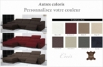 - canapé d'angle double relax en cuir de buffle italien de luxe 5 places birelax, couleur personnalisée, angle gauche
