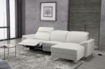 canapé d'angle relax de luxe 5 places brinda, blanc, angle droit