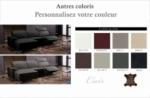 .canapé d'angle relax en cuir de buffle italien de luxe 5 places brio, couleur personnalisée , angle gauche