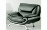 fauteuil 1 place en cuir italien jonah, gris foncé