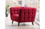 fauteuil 1 place casini en tissu de qualité, couleur bordeaux