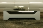 table basse design cosy, écru