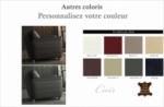 fauteuil 1 place en cuir italien buffle danemark, couleur personnalisée